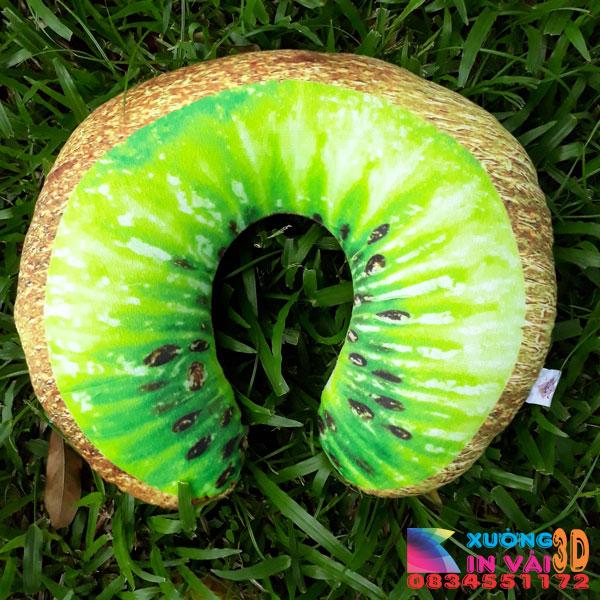 gối vòng cổ 3d- kiwi